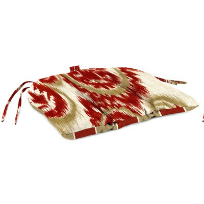 Outdoor Adirondack Chair Cushion Fabric: Wickenburg Cherry / Sorista Cherry