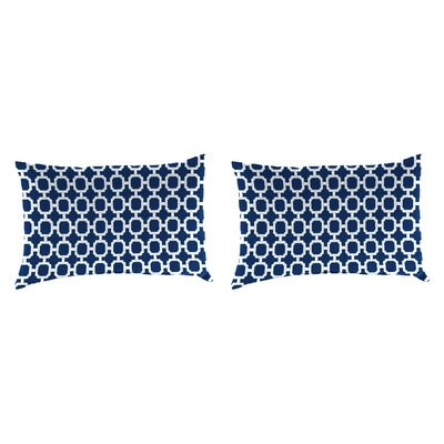 Outdoor Lumbar Pillow Farbic: Hockley Navy