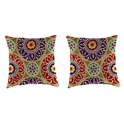 Indoor/Outdoor Throw Pillow Farbic: Tabea Jewel