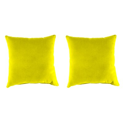 Indoor/Outdoor Throw Pillow Farbic: Fresco Yellow