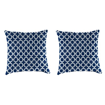 Indoor/Outdoor Throw Pillow Farbic: Hockley Navy