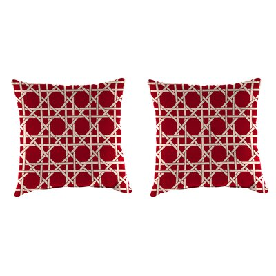 Indoor/Outdoor Throw Pillow Farbic: Kane Coral