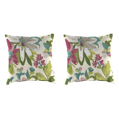 Indoor/Outdoor Throw Pillow Farbic: Elberta White