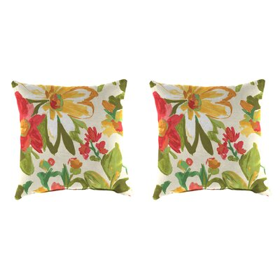 Indoor/Outdoor Throw Pillow Farbic: Elberta Sunbright