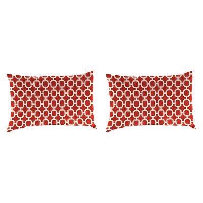 Outdoor Lumbar Pillow Farbic: Hockley Red