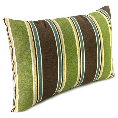 Outdoor Lumbar Pillow Color: Echo Stipe Truffle
