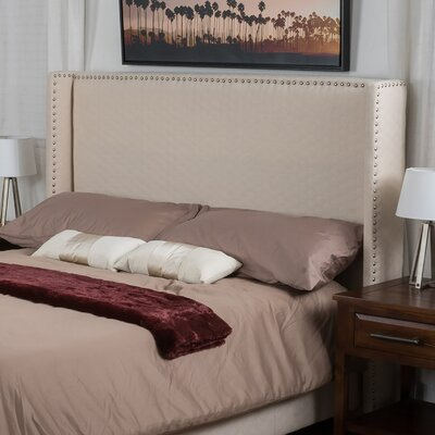 Pederson Upholstered Headboard Size: Full/Queen, Upholstery: Beige