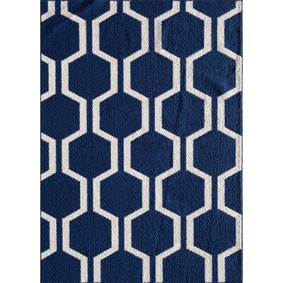 Myra Blue Area Rug Rug Size: 76 x 96