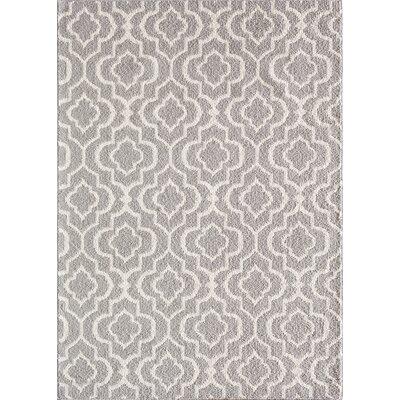 Myra Gray/White Area Rug Rug Size: 5 x 7