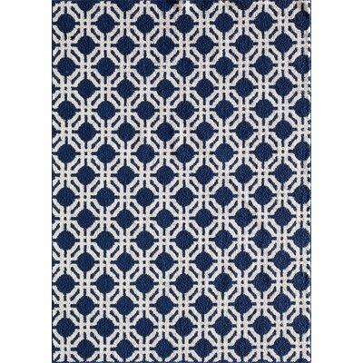 Sandlewood Blue/White Area Rug Rug Size: 5 x 7