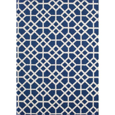 Ardsley Blue/White Area Rug Rug Size: 5 x 7