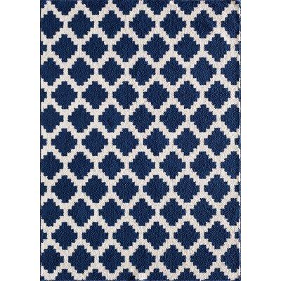 Ardsley Blue/White Area Rug Rug Size: 76 x 96