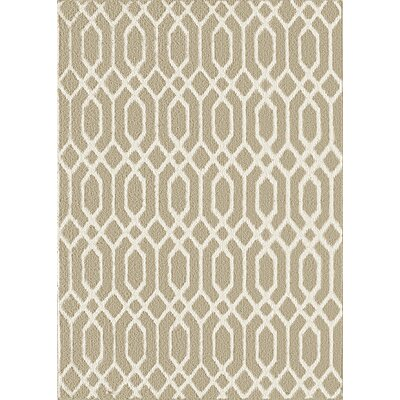 Dorothy Beige/White Area Rug Rug Size: 5 x 7