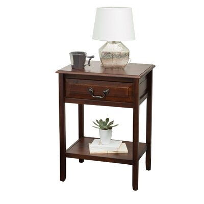 Zara Acacia Wood End Table Color: Brown Mahogany