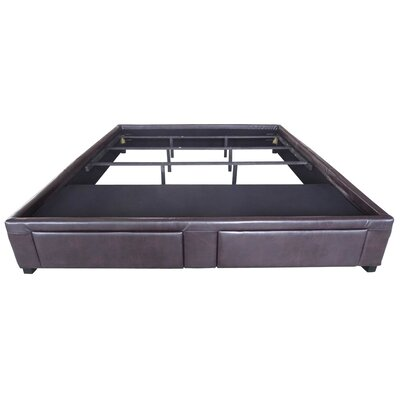 Chamlee Leather Upholstered Storage Platform Bed Size: California King