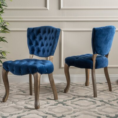 Boyles Upholstered Dining Chair Upholstery Color: Purple