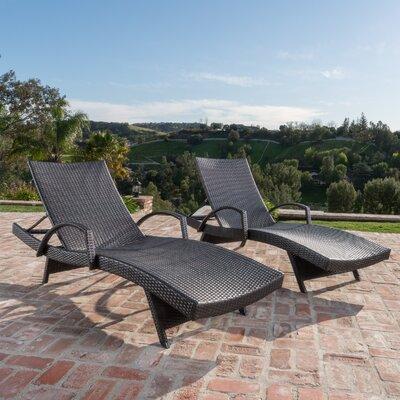 Peyton Adjustable Wicker Chaise Lounge