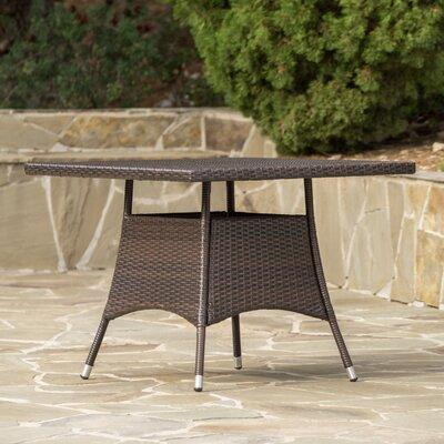 Brissette Outdoor Wicker Square Dining Table
