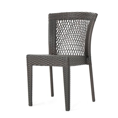 Paulino Outdoor 3 Piece Rattan Conversation Set