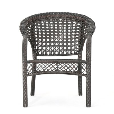 Diana Outdoor Wicker 3 Piece Lounge Seating Group