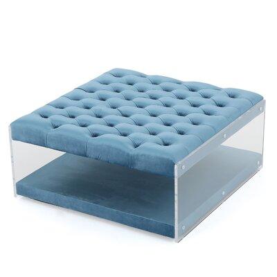 Van Horne Ottoman Upholstery: Aqua