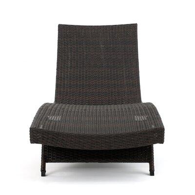 Jett Wicker Chaise Lounge Finish: Brown