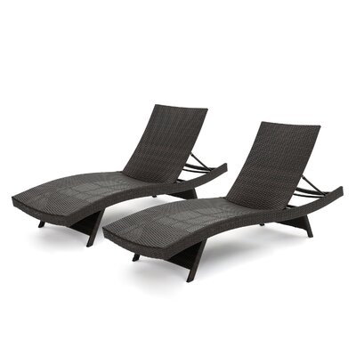 Jett Wicker Chaise Lounge Finish: Brown