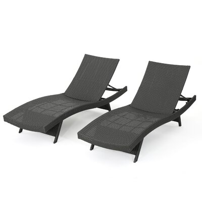 Jett Wicker Chaise Lounge Finish: Gray
