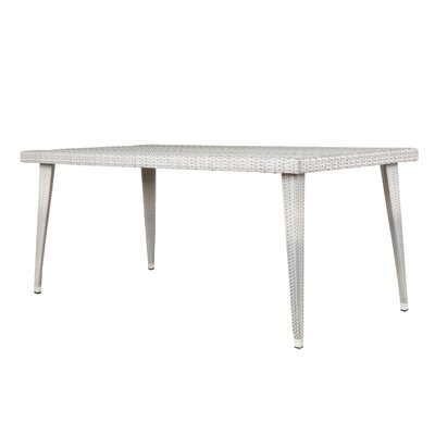 Malta Long Outdoor Wicker Dining Table Finish: Chateau Gray