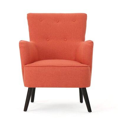 Volquez Armchair Upholstery: Dark Salmon