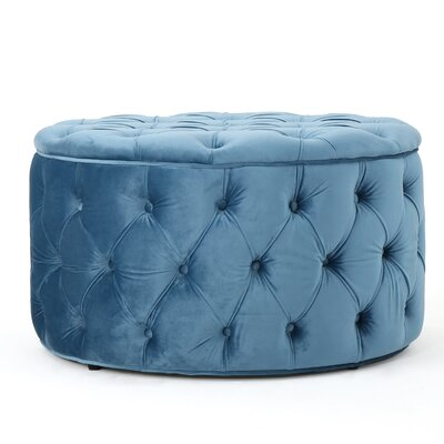 Donnay Cocktail Ottoman Upholstery: Aqua