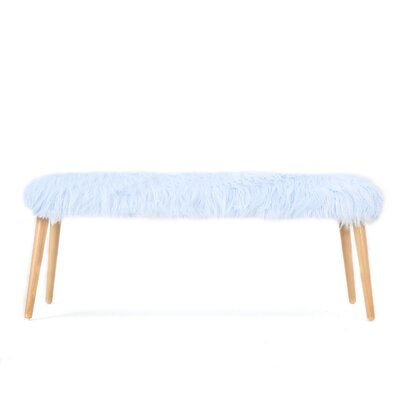 Nieves Ottoman Upholstery: Light Blue