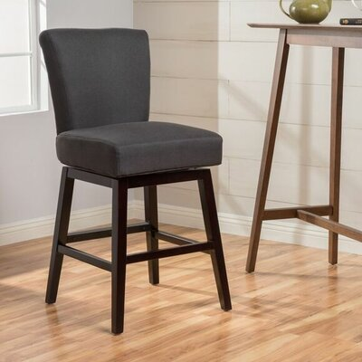 Allyssa 27.75 Swivel Bar Stool Seat Color: Charcoal
