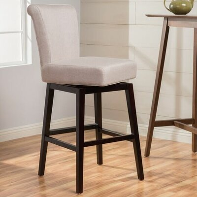 Allyssa 27.75 Swivel Bar Stool Seat Color: Wheat