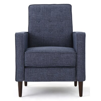 Russo Recliner Color: Dark Blue