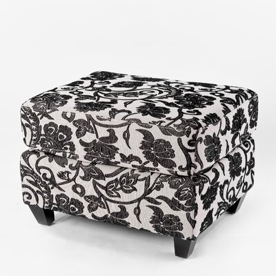 Flower Ottoman in Black and White by Home Loft Concept