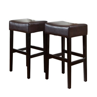 Easy financing Classic Backless Leather Bar Stool ...