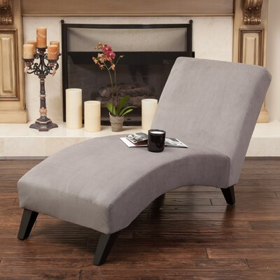 Dunellon Chaise Lounge Upholstery: Gray