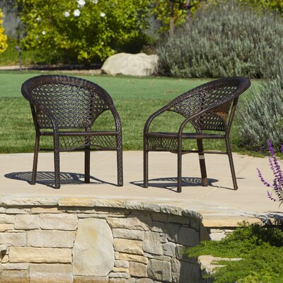 Ukee Outdoor Wicker 3 Piece Lounge Seating Group