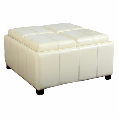 nFusion Cornell Leather Tray Ottoman - Color: White at Sears.com