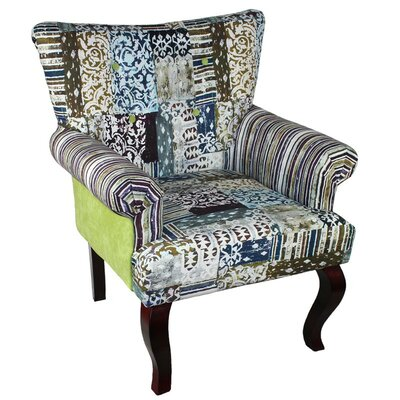 Fabric Wooden Arm Chair