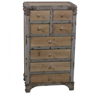 8 Drawer Wooden Dresser Chest