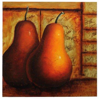 'Pears in Dark Room' Oil Painting Print EN2645