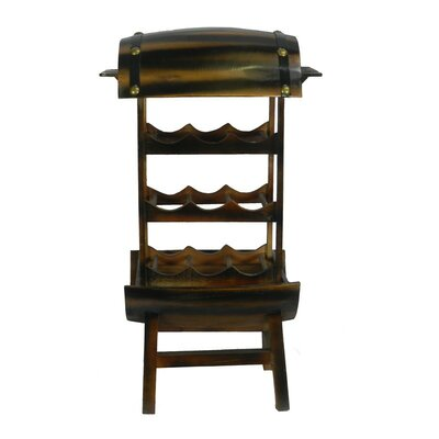 Two Tier 9 Bottle Floor Wine Rack