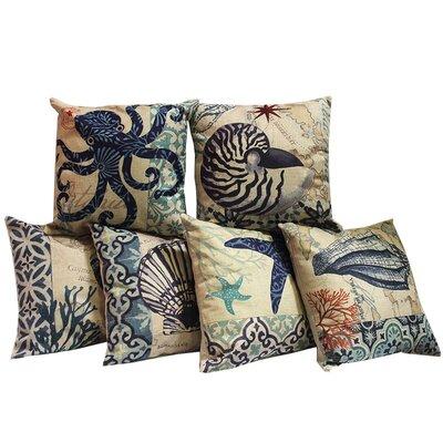 6 Piece Ocean Throw Pillow Set