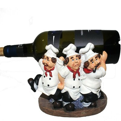 Chef Polyresin 1 Bottle Tabletop Wine Bottle Rack