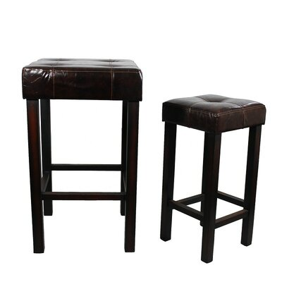 2 Piece Bar Stool with Cushion Set
