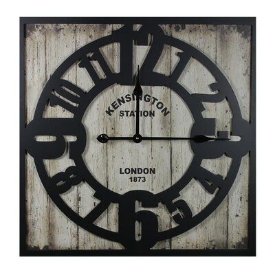 Kensington Station MDF Metal Wall Clock