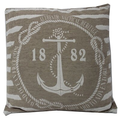 Anchor with Stripes Throw Pillow