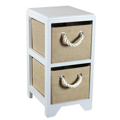 2 Drawer Bin Storage Unit